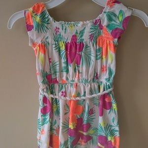 Girls Carter's Hawaiian Floral Dress Size 3T